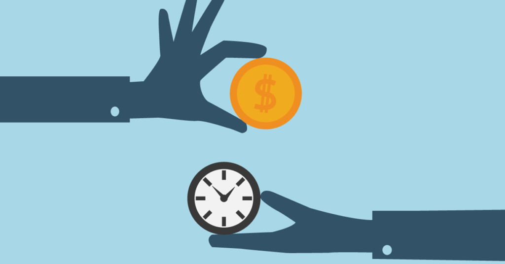 Vector of two hands with a coin and clock: How long do I have to make a terror attack claim?